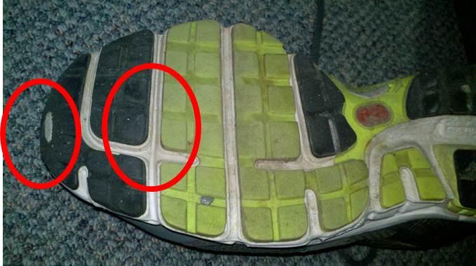 Uneven Shoe Wear Running