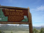 Salmon River info sign