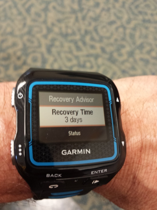 My Garmin told me I had a 3-Day Recovery!